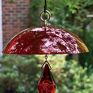 Red Facets Hummingbird Dome